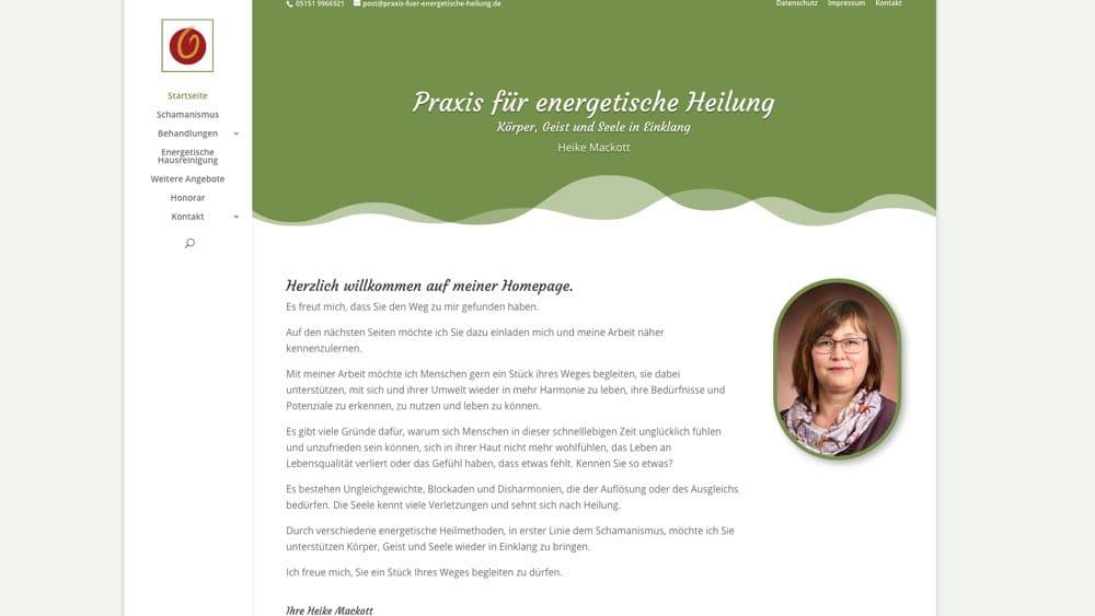 Heike Mackott – Website Energetische Heilung Hameln