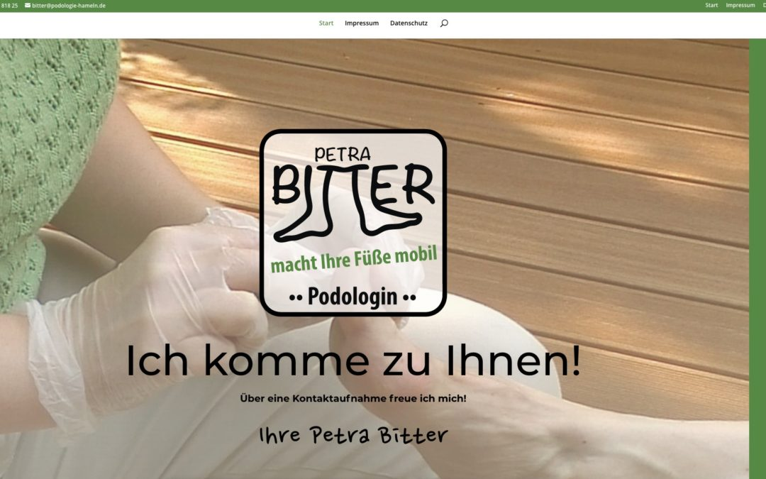 Petra Bitter – Website Podologie