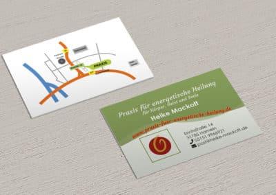 Heike Mackott – Visitenkarte Energetische Heilung