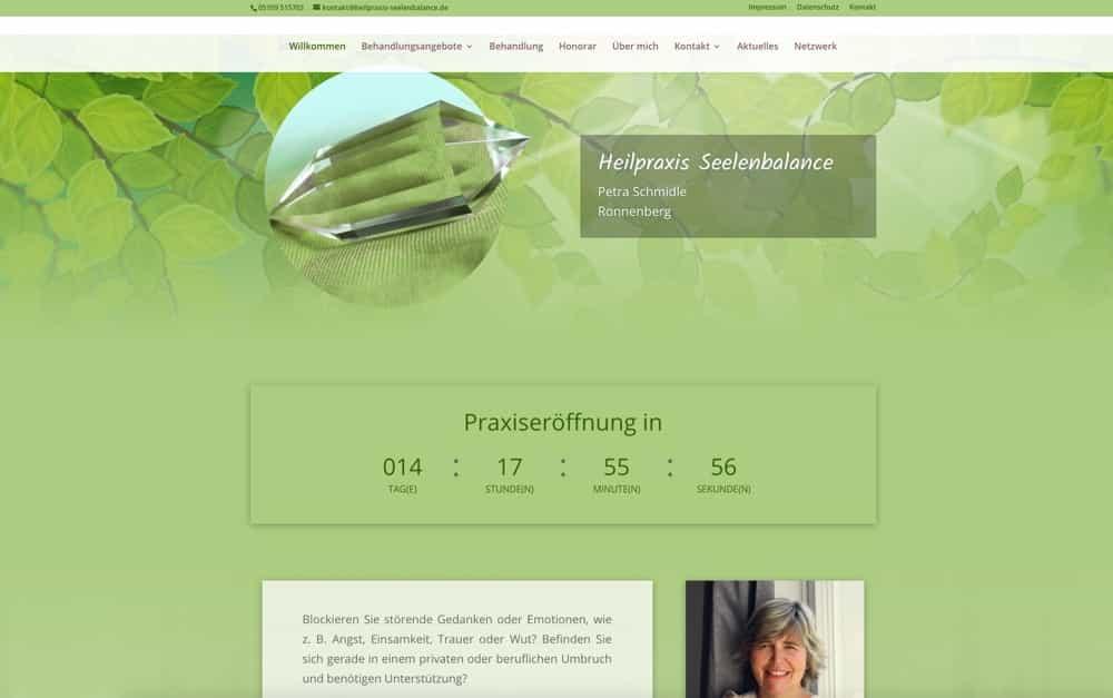Heilpraxis Seelenbalance – Website für Petra Schmidle erstellt