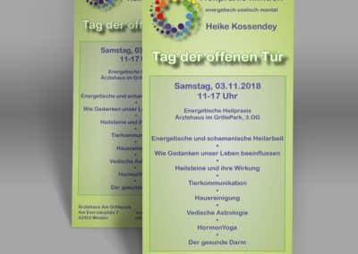 Heike Kossendey – Flyer Heilpraxis Minden Veranstaltung
