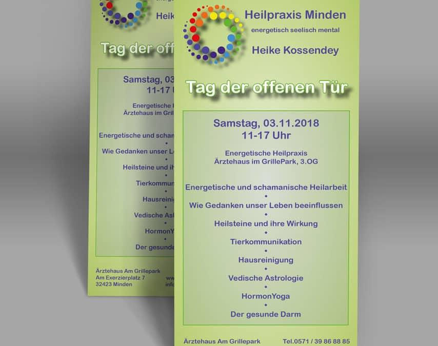 Heilpraxis Minden – Flyer für Heike Kossendey erstellt