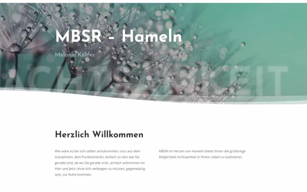 MBSR – Hameln – Medien für Melanie Köhler erstellt