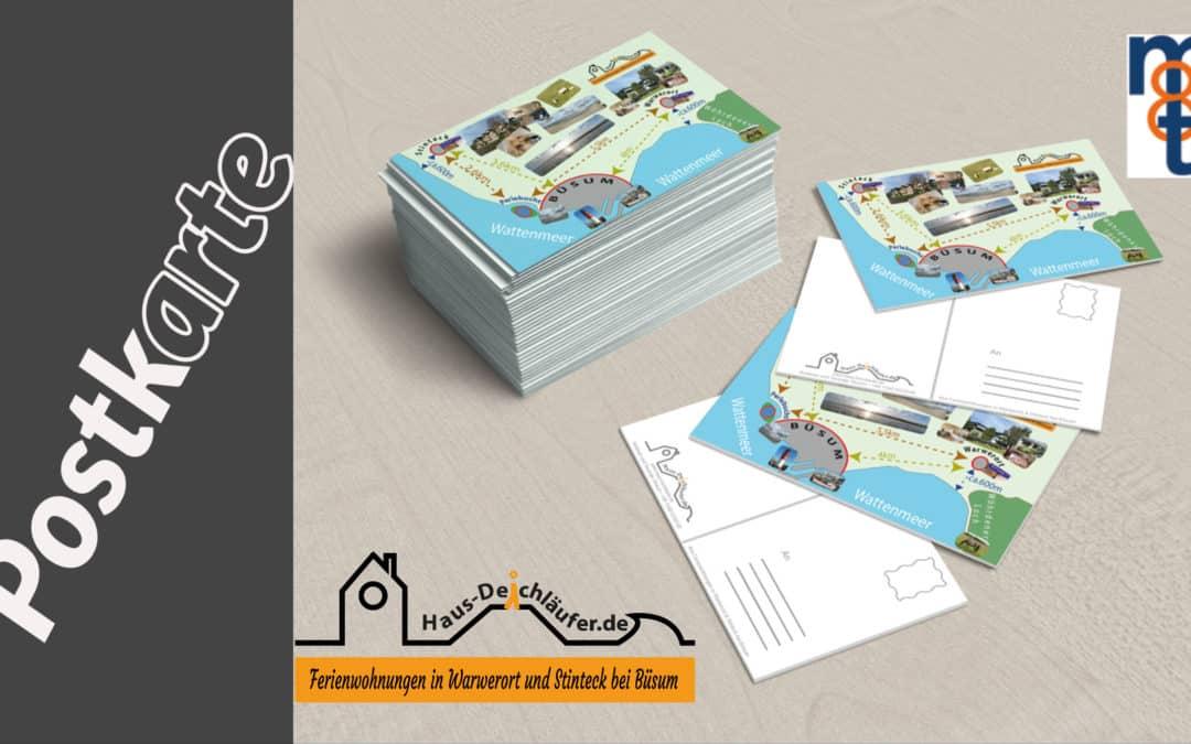 Postkarte als GiveAway für Kunden Haus Deichläufer