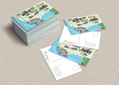 Familie Streich – Postkarte Haus Deichlaeufer