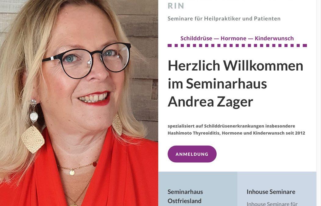 Hashimotoseminar.de Website – für Andrea Zager