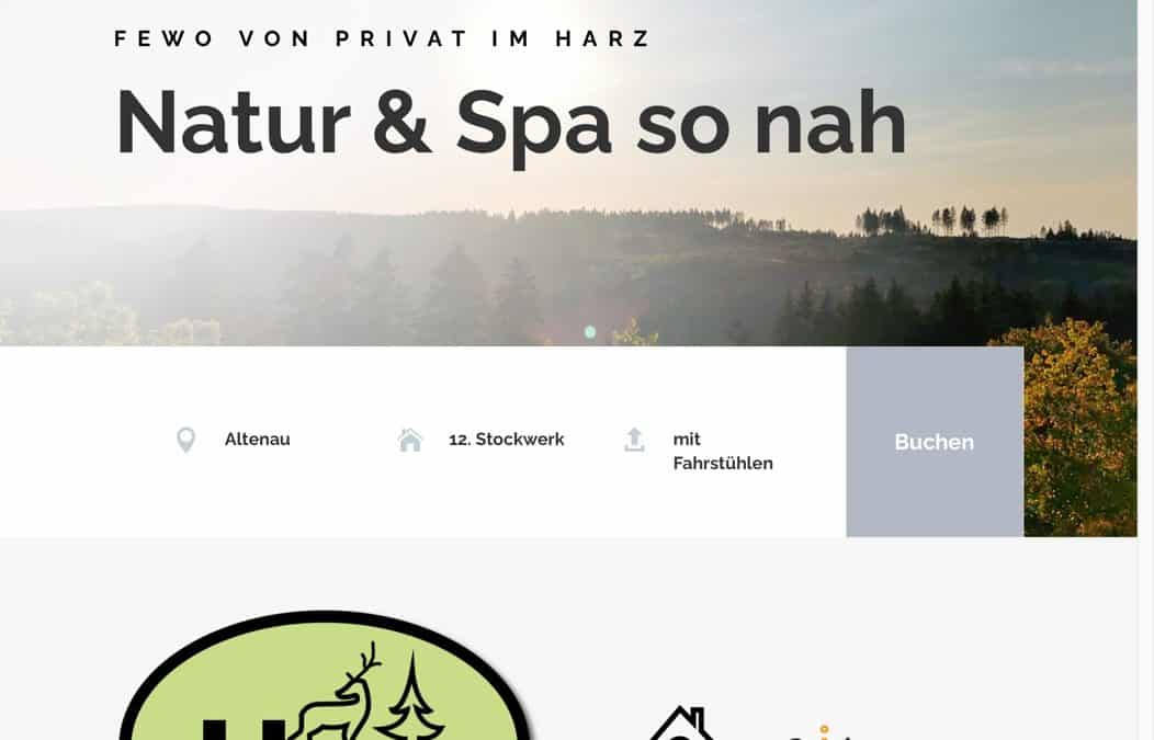FeWo-Harz-Urlaub-Website