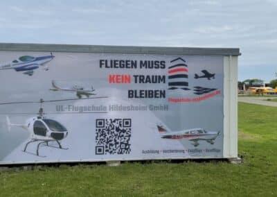 Stoffbanner – Flugschule Hildesheim