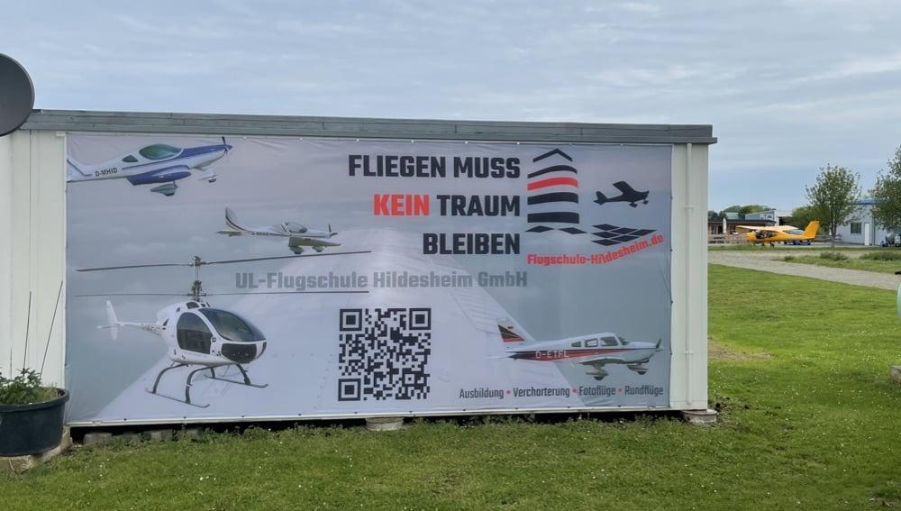 Werbemaßnahmen für die Flugschule-Hildesheim