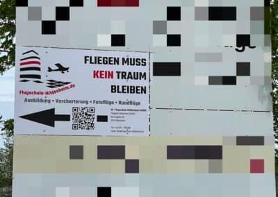Werbetafel – Flugschule Hildesheim