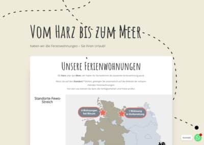 Vom Harz bis zum Meer – Website FeWo Streich
